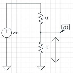 voltage divider series resistor