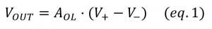 basic opamp open loop gain equation