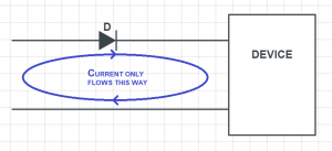 blocking protection diode schematic circuit