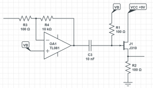 Coupling capacitor circuit example