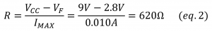 current protection resistor led equation 2