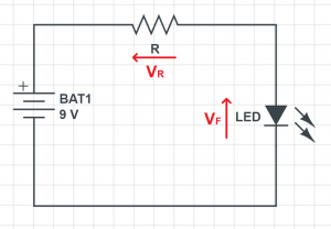 current protection resistor led schematic