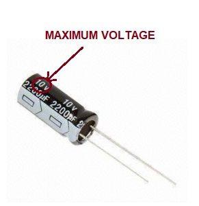 find electrolytic capacitor maximum voltage