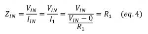 inverting opamp amplifier input impedance