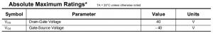 jfet datasheet absolute maximum ratings