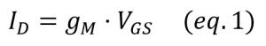 jfet gain equation