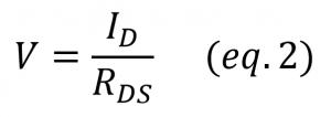 jfet ohmic region variable resistor equation