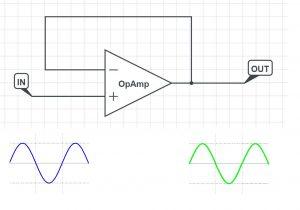 opamp buffer circuit schematic