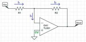 opamp inverting amplifier analysis