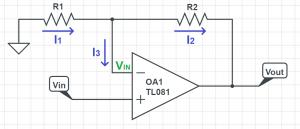opamp non inverting amplifier analysis