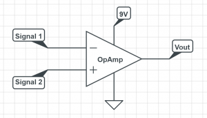 opamp open loop comparator circuit schematic