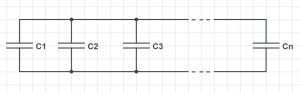 parallel capacitors equivalent