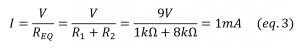 electric power consumed series resistor circuit 2