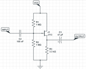 blog jfet buffer schematic